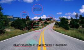 Copy of clasificacion de carreteras y caminos: