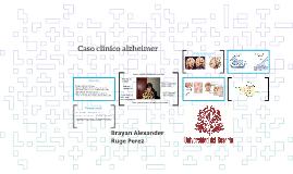 Caso clinico alzheimer