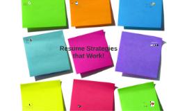 Resume Building Strategies