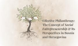 Effective Philanthropy: The Concept of Social Entrepreneursh