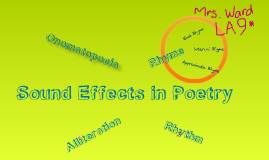 Copy of Sound Effects in Poetry: Music to Your Ears