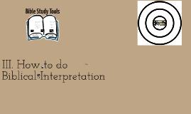 Principles of Bible Study- Interpretation