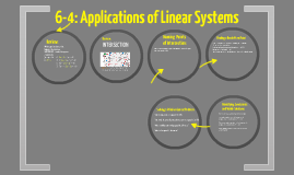 6-4: Applications of Linear Systems
