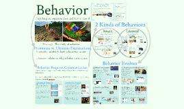 Copy of AP Bio- Ecology 1: Behavior