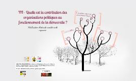 III - Quelle est la contribution des organisations politiques au fonctionnement de la démocratie ?