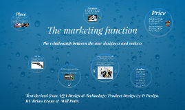 The marketing function
