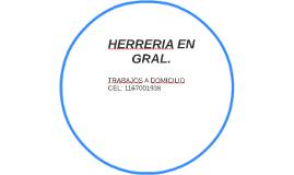 HERRERIA EN GRAL.