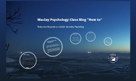 Introduction to the Classroom Blog
