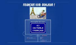 Français 102: Bonjour !