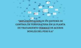 """""""IMPLEMENTACION DE UN SISTEMA DE CONTROL DE TEMPERATURA EN L"""
