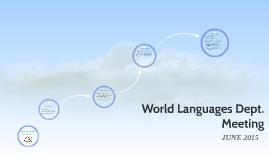World Languages Dept. Meeting