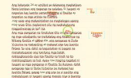 Kabanata 24: Mga Pangarap