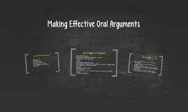 Making Effective Oral Arguments