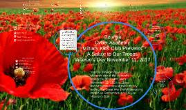 GCA Veterans Day Salute