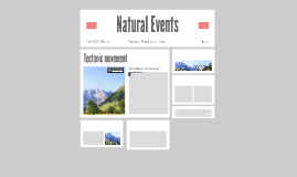 Natural Events Research Guidelines