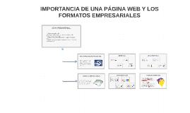 IMPORTANCIA DE UNA PÁGINA WEB Y LOS FORMATOS EMPRESARIALES