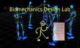 Biomechanics - Gait Analysis Design Lab