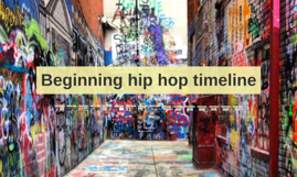 Beginning hip hop timeline