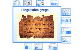Lingüística grega II