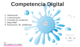 Areas de la Competencia Digital