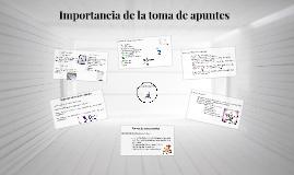 Copy of Importancia de la toma de apuntes
