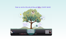 2015-16 How to write Standard Based IEP's