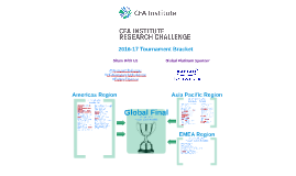 CFA Institute Research Challenge - Tourney Bracket
