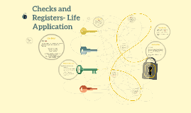 Checks and Registers- Life Application