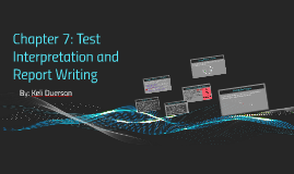 Test Interpretation and Report Writing