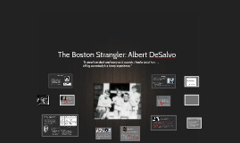 Copy of The Boston Strangler: Albert De Salvo