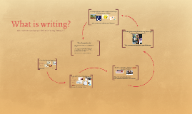 What is writing?