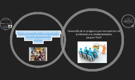 Copy of La competencia como organizadora de los programas de formaci