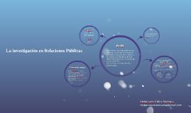 La investigación en Relaciones Públicas