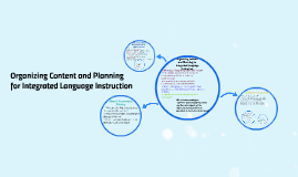 Organizing Content and Planning for Integrated Language Inst