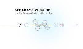 EB 2016: VP iGCDP