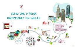 Copy of COMO PEDIR O DAR DIRECCIONES EN INGLES