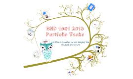 2013 BND1001 Portfolio Tasks
