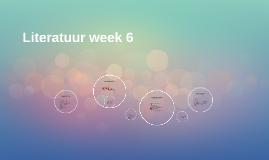 Literatuur week 6