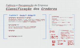 Classificação dos Credores