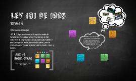 Ley 181 de 1995