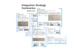Integral Summary Chart