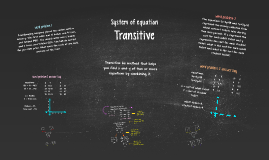 Systems of Equations - Transitive