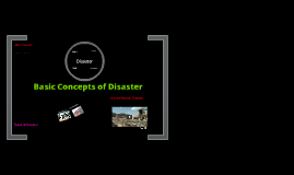 Basic Concepts of Disaster