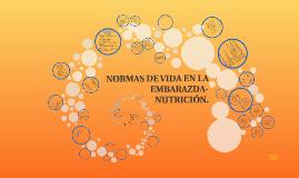 NORMAS DE VIDA EN LA EMBARAZDA- NUTRICIÓN.