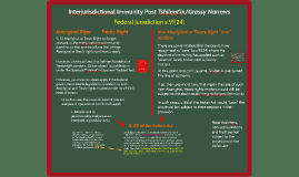 Interjurisdictional Immunity Post Tshilqot'in/Grassy Narrows