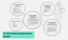 7. Tétel: Fenntartó és oktatási intézmény kapcsolata