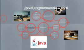 Copy of Języki programowania w prezi