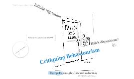 Copy of Critiquing Behaviourism