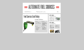 ALTERNATE FUEL SOURCES