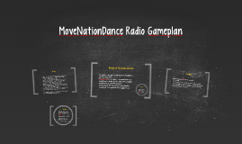 MovenationDance Radio Gameplan